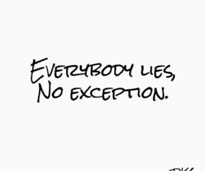 lies, quotes, and sad image