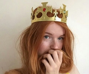 redhead, Queen, and hair image