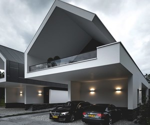 house, cars, and home image