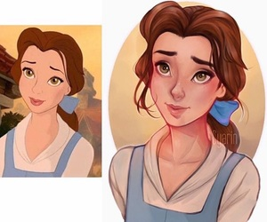 belle, cartoon, and happiness image