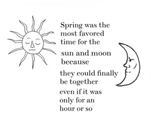 sun, quotes, and moon image