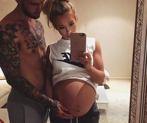 couple, pregnant, and baby image