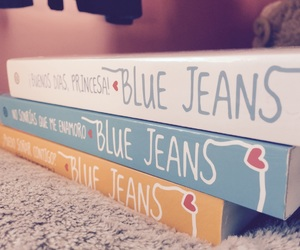 blue jeans, books, and bookworm image