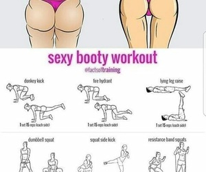 booty, fitness, and exercises image