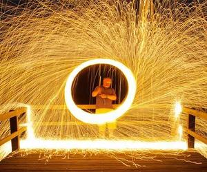 light and light painting image