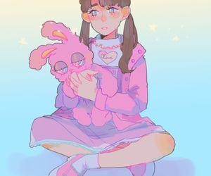 aesthetic, art, and bunny image