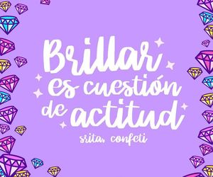 morado, diamantes, and frases en español image