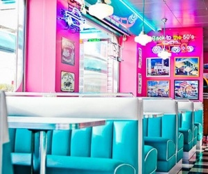 pink, retro, and blue image