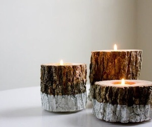 candle, wood, and diy image