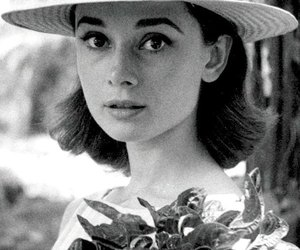 audrey hepburn, black and white, and photo image