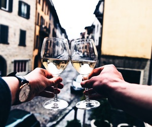 cheers, italy, and wine image