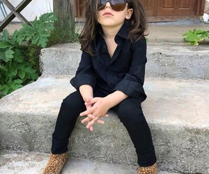 little boy, style, and long hair image