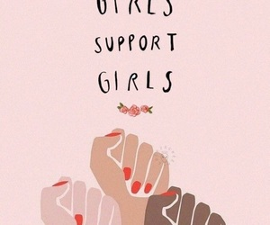 girl, pink, and support image