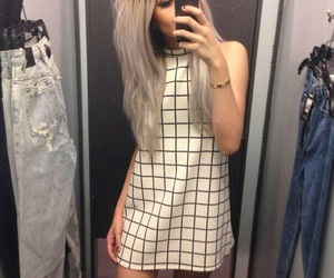girl, grunge, and dress image