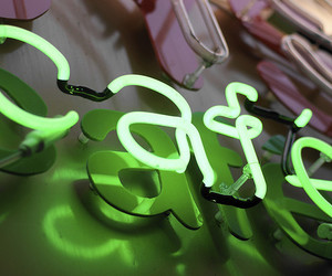 cafe, green, and neon signs image