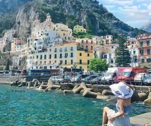 Amalfi, beautiful, and fashion image