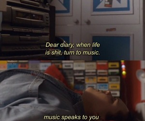 mood, music, and quote image