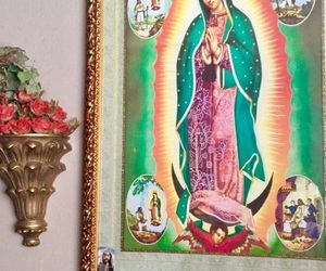 bright colors, Catholic, and Virgin Mary image