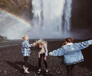 friendship, rainbow, and yolo image
