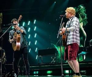 ed sheeran, shawn mendes, and concert image