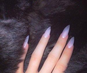 nails, acrylics, and tumblr image