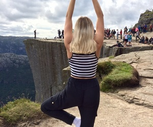 blonde, norway, and tourist image