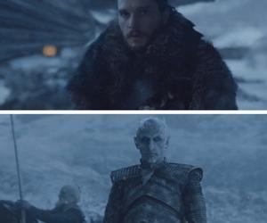 game of thrones, jon snow, and night king image