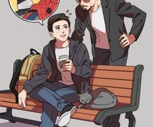 iron man, Marvel, and spider man image