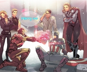 Avengers, iron man, and stony image