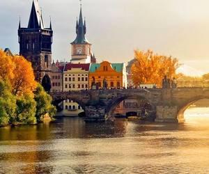 prague, czech republic, and autumn image