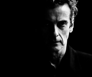 black and white, doctor who, and twelve image