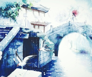 blue, scenery, and water image