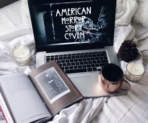 candle, book, and ahs image