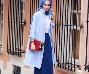 blue, fashion, and 7ijab image