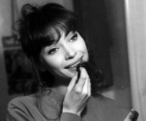 anna karina, black & white, and black and white image