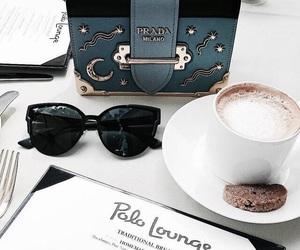 coffee, girl, and purse image