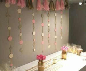 decoracion, dorado, and rosa image