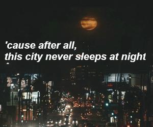 band, city, and moon image