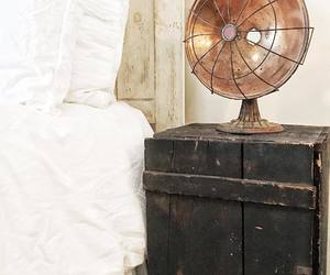 bedroom, farmhouse, and nightstand image