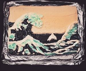 cake, food, and tsunami image