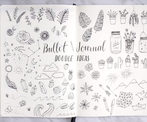 aesthetic, bullet, and doodles image