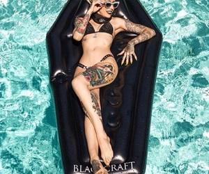 bikini, coffin, and summer image