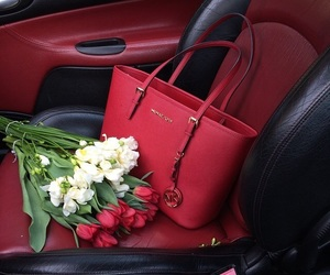 red, bag, and fashion image