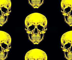 background, pattern, and skulls image