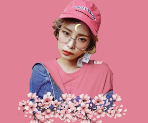 asian, girl, and pink image