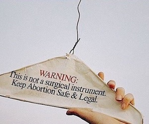 abortion, body, and coat hanger image