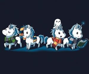 unicorn, gryffindor, and harry potter image