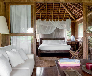 bedroom, chalet, and exotic image