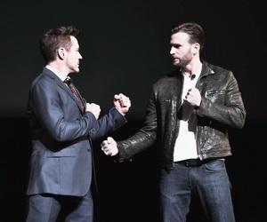 chris evans, robert downey jr, and captain america image