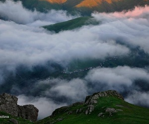 clouds, mountain, and photography image